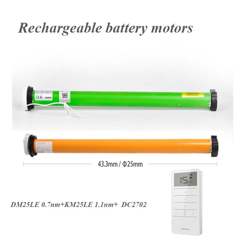 free shipping original Dooya DM25LE KM25LE rechargeable battery motor DOOYA tubular motor for Dia 38mm tube