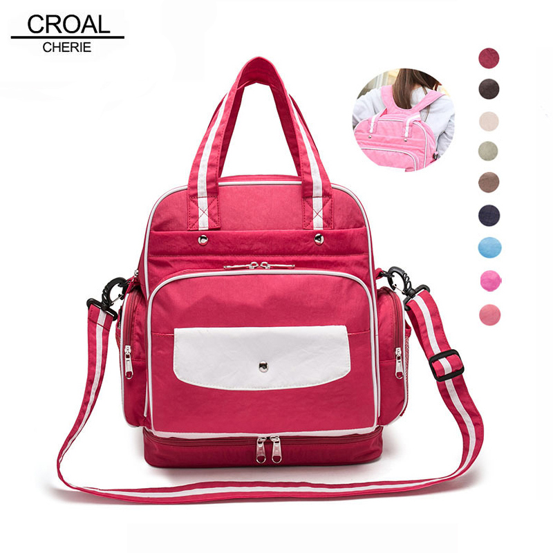 CROAL CHERIE  Baby Diaper Bag Backpack Tote Messenger Baby Bag Organizer Stroller Bag For Mom Dot Waterproof Maternity Bags cherie cherie lip balm mint