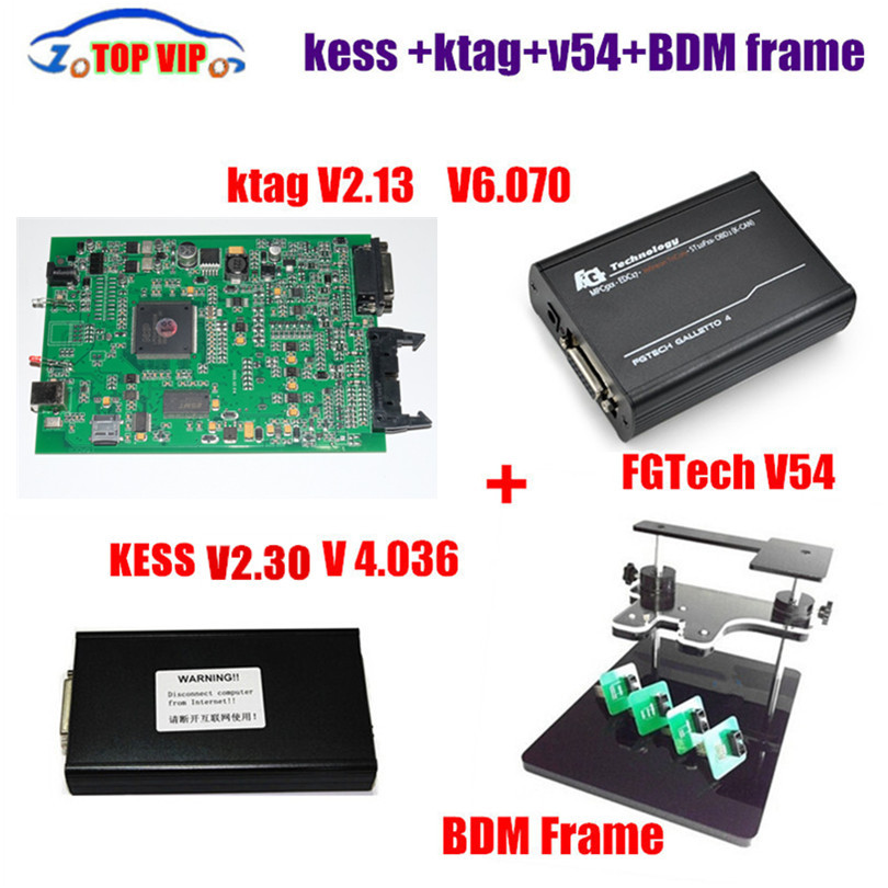 V2.32 KESS V2 OBD2 Manager Tuning Kit V4.036 + V2.13 Ktag +FG tech V54 +BDM frame ECU Tuning Tool ECU Programmer DHL Free