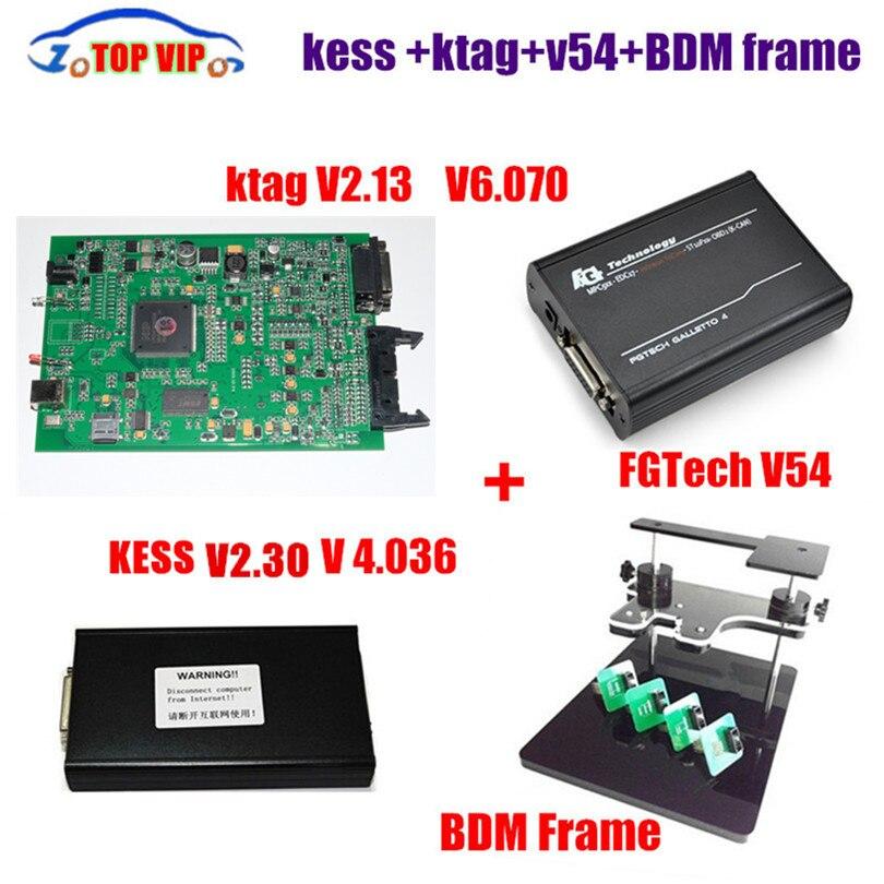 V2.32 KESS V2 OBD2 менеджер Тюнинг Комплект V4.036 + V2.13 KTAG + fg tech V54 + BDM Рамка ECU настройки инструмент ЭКЮ программист DHL Бесплатная