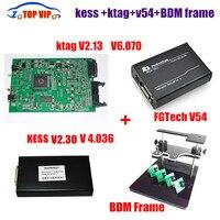 V2.32 Ktag KESS V2 OBD2 Gerente Sintonia Kit V4.036 + V2.13 + FG tecnologia V54 + quadro BDM ECU Sintonia Ferramenta ECU Programador DHL livre