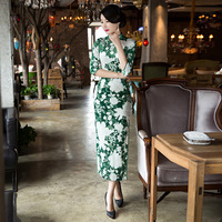 2017 Abendkleider Dress Traditional Chen Xi Improved Cheongsam New Autumn And Winter Long Catwalk Banquet Hosted Slim Female