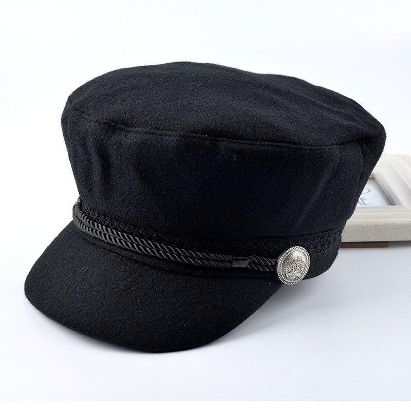 2016 spring women's newsboy caps for men woolen 100% octagonal Cap  ladies Unisex Retro flat hat boina Flat cap