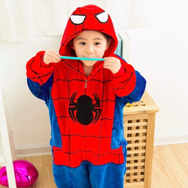 12a7308ec Children Animal Pajamas totoro stitch sleepwear Onesies baby Cosplay ...