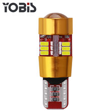 1pcs lampada LED T10 Canbus W5w Auto Bulb Clearance Lights LED Voiture 12v 27 SMD Light-emitting Diode 3014 Tail Light(China)