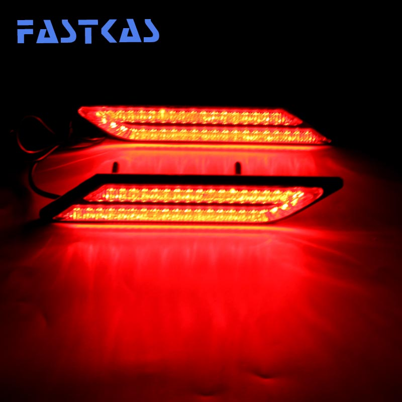 Us 13 59 Led Brake Light Waterproof Aluminum House Day Light White Ice Blue Yellow Color Red Cars Daytime Running Light In Car Light Assembly From