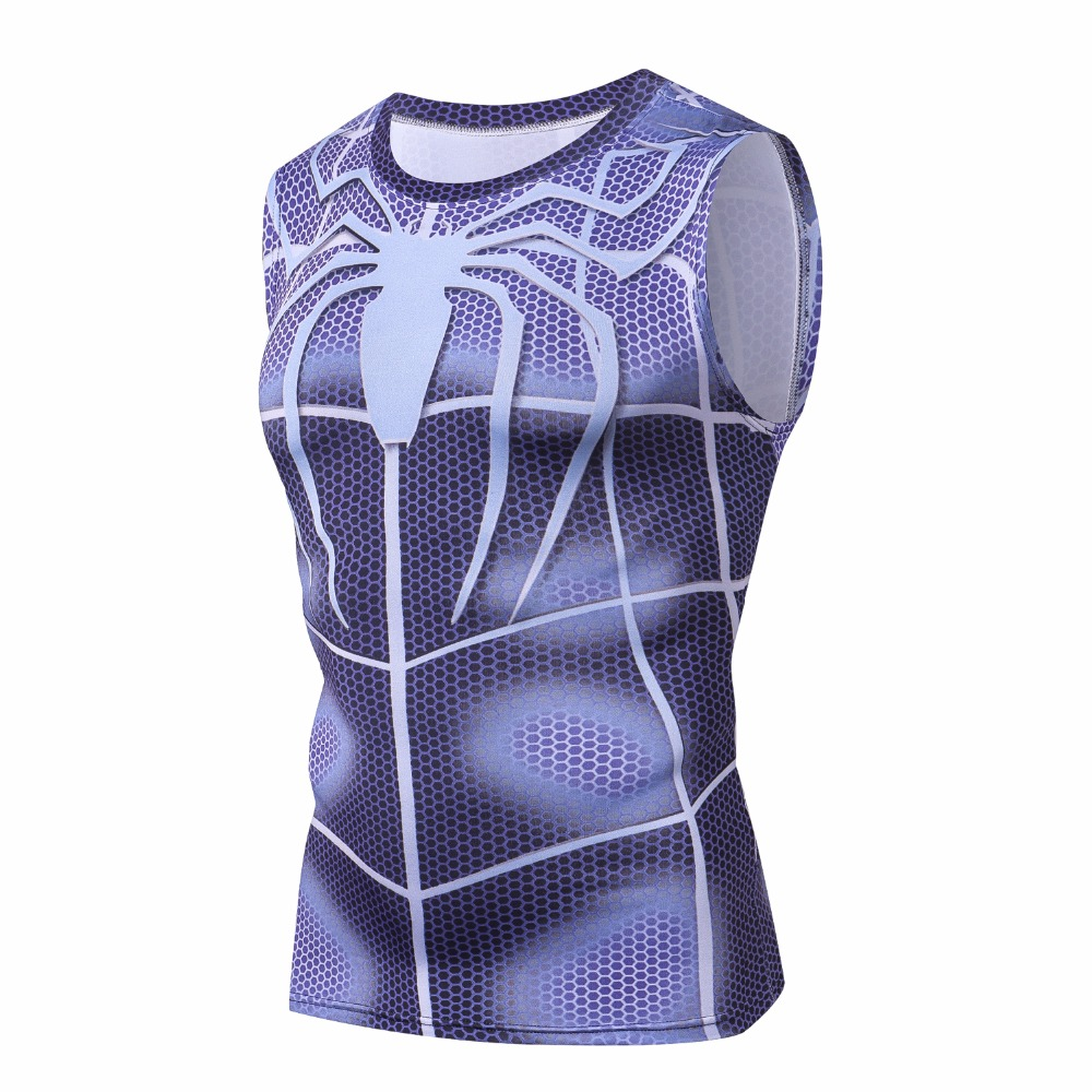 Black Panther Sleeveless 3D Printed T shirts Men Compression Shirts Tops Male Cosplay (Copy) (Copy) (Copy)