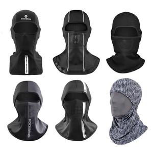 Image 3 - Rockbros Winter Thermische Fleece Ski Masker Full Face Cover Snowboard Hood Sjaals Outdoor Sport Winddicht Fietsen Hoofddeksels Balaclava