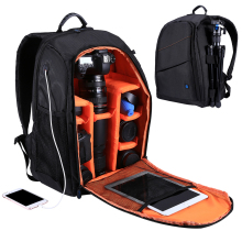Large Capacity Camera Waterproof Backpack Bag for Outdoor Travel Hiking with Holes Outlet Camera Bags