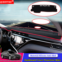 QCBXYYXH Car Styling Dashboard Avoid Light Pad Polyester Instrument Platform Cover Protective Mat For Toyota 8th