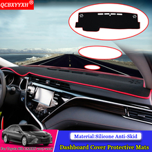 QCBXYYXH Car-styling Dashboard Avoid Light Pad Polyester Instrument Platform Cover Protective Mat For Toyota 8th Camry 2017 2018