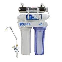 عالية الجودة! أربعة المرحلة Undersink الشرب تصفية المياه مع 6 واط فوق البنفسجية (UV) التعقيم للمطبخ ، امدادات الطاقة 200-240 فولت
