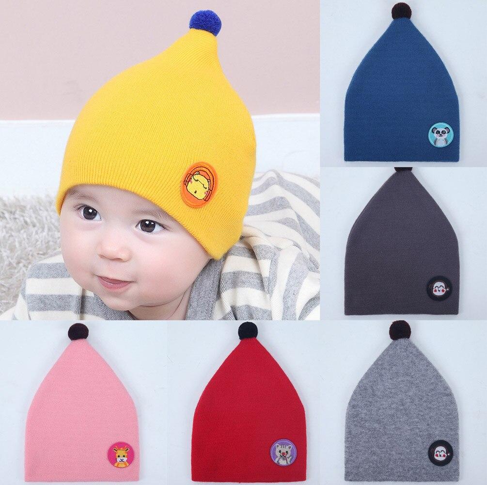Childrens winter warm hat Childrens cap for girls boys Baby Beanie For newborns Cat Cotton Hat Children Print Hats