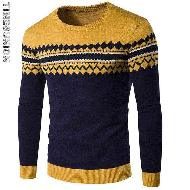 2017 Spring Autumn Thin Style Pullover Men Knitted Sweater Men Brand 2017 Stylish Jumpers Mens Sweaters Pull Homme Marque
