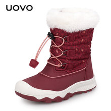 Kids Snow Boots 2019 UOVO New Arrival Winter Boots Children Warm Boots Water Repellent Boys and Girls With Plush Lining #29-38(China)