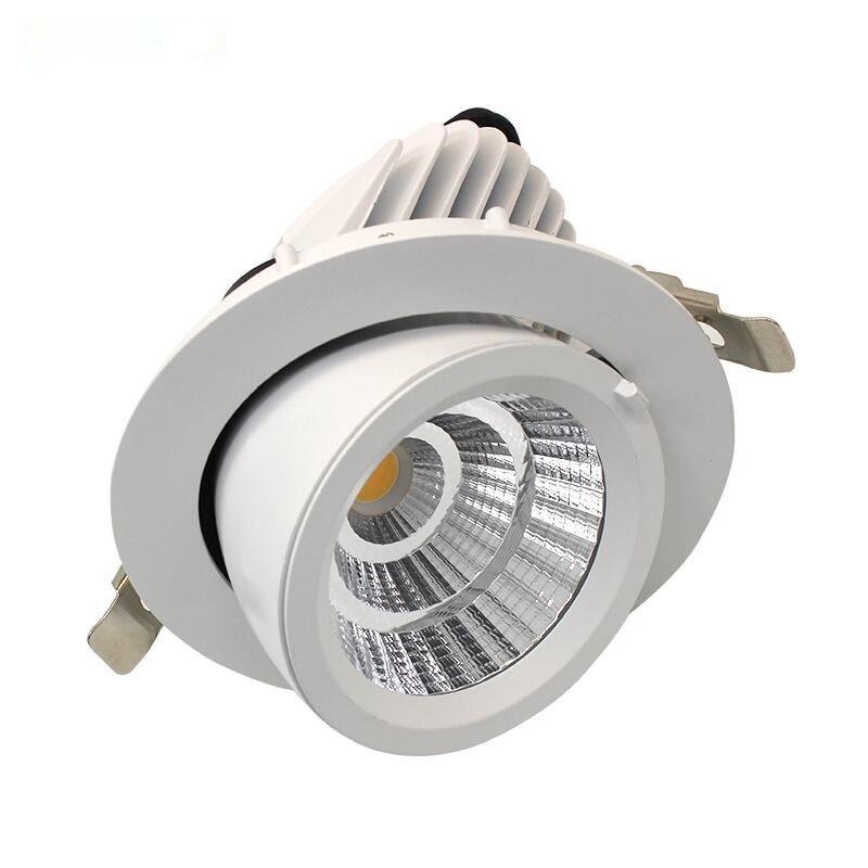 Nice Aluminum Led Cob Downlight Recessed Dimmable Led Cabinet Lamp 15w 20w 25w Ac110v 220v Cut Hole 130mm Led Fixture Spot Light Lamp Lights & Lighting