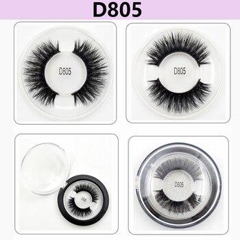 41e10bf09e9 Mink Eyelashes 3D Mink Lashes Thick Hand Made Full Strip Lashes Cruelty  Free Korean Mink Lashes Reusable False Eyelashes D805