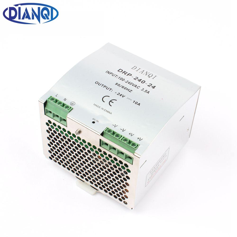 все цены на DIANQI Din rail power supply 240w 12V 24V 48V power suply 12v 240w  ac dc converter DR-240-12 DR-240-24 DR-240-48 good quality онлайн