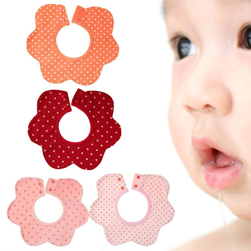 1pc Lovely Adjustable Buckle Design 360 Degree Rotation Baby Bibs Burp Cloths Newborn Infant Saliva Towel For Children Use