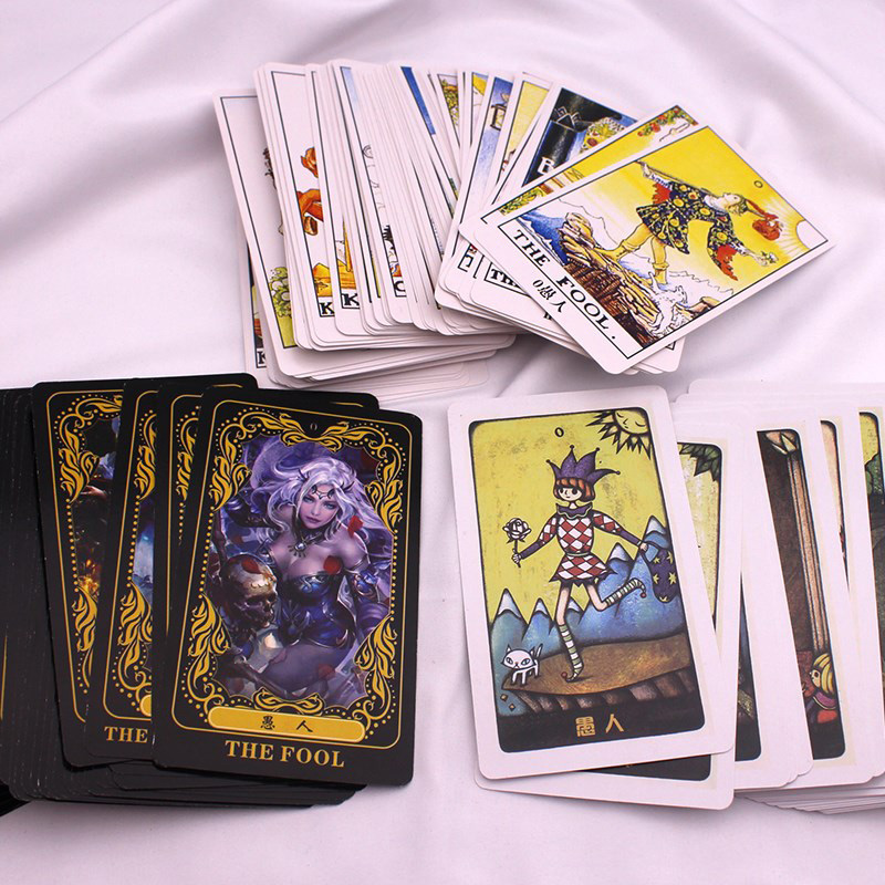 78 PCS/Set Cards Tarot Board Game Chinese/English Edition Mysterious/Constellation/Collection Tarot