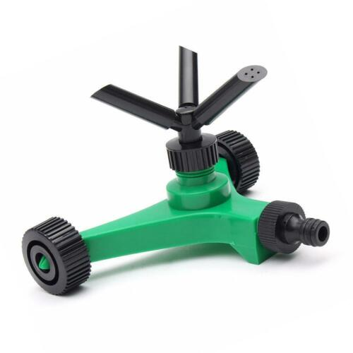 Image 3 - 2019 New Three fork Rotary Sprinkler With Wheels Watering Tri outlet Rotating Sprinklers-in Garden Sprinklers from Home & Garden