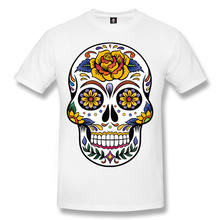 5e226b4e0 Skull Tattoo Mens T-Shirt Skull Rock Day Of The Dead Biker Goth Sugar Skull  Top Sale 100 % Cotton T Shirt