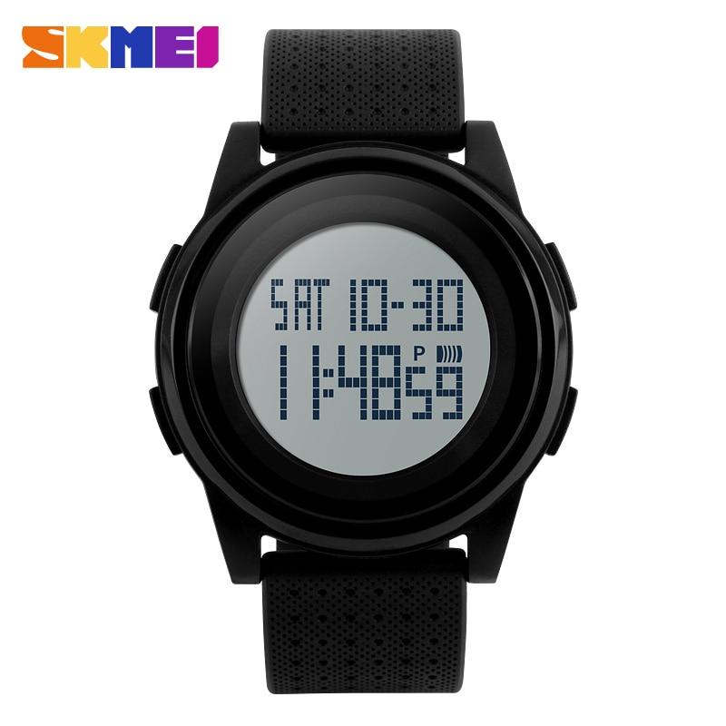 SKMEI Simple Ultrathin Big Dial Men Watch Chrono Double Time Digital Wristwatch Countdown Chronograph Sport Watches