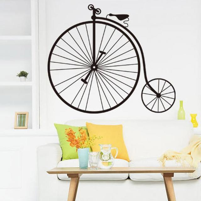vintage bicycle wall sticker living room bedroom decor mural art