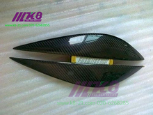 Carbon Fiber Headlight Covers Eyelids eyebrows Fit for BENZ W204 C63
