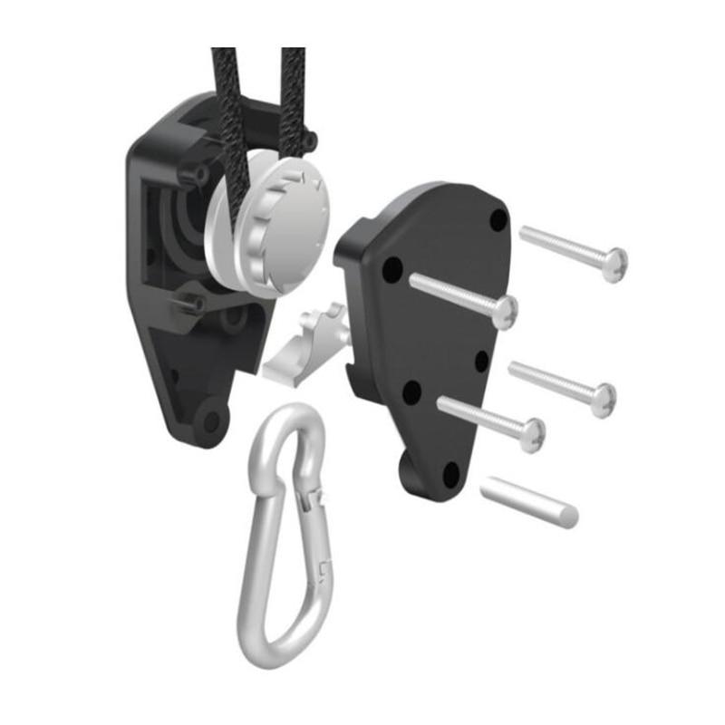 Adjustable 1 Pair 2 PCS 18 Inch Nylon Rope Ratchet Yoyo Hangers Light Hanging Kit for LED Grow Light Grow Tent Room  (4)