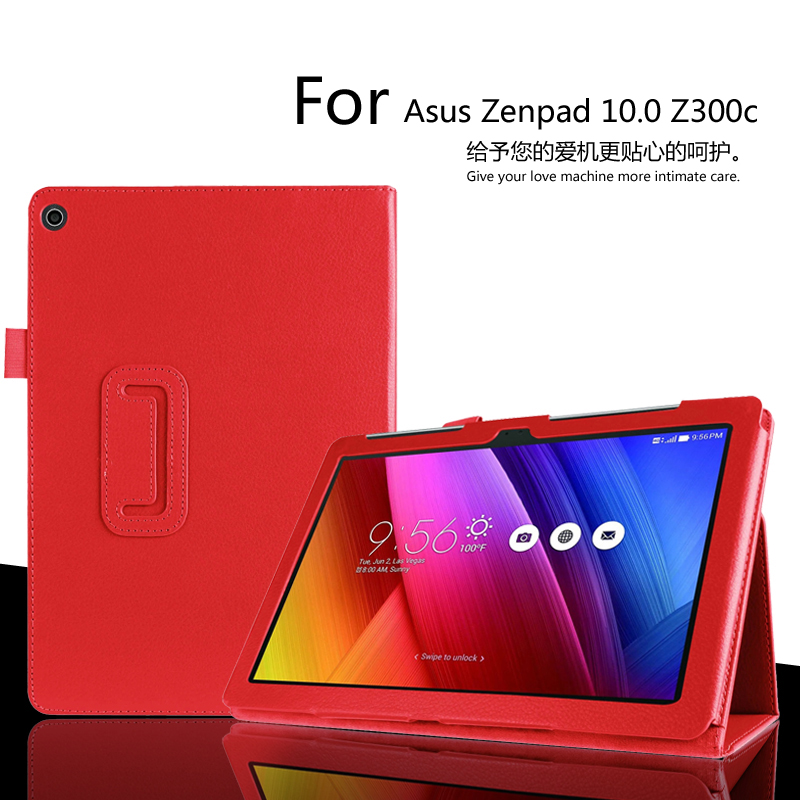 For Asus Zenpad 10 Z300 Z300C Z300CG Z301 Z301ML 10.1 inch Tablet Case Litchi PU Leather Cover Tablet Slim Protective shell asus zenpad 3s 10 z500m tablet pc