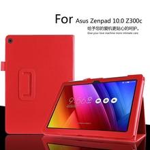 Para Asus Zenpad 10 Z300C 10.1 pulgadas Tablet Case Litchi Cubierta de Cuero de LA PU Para Asus Z300CG Tableta Delgada cáscara Protectora FreeShipping
