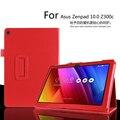 Para Asus Zenpad 10 Z300C 10.1 polegada Tablet caso Litchi capa de couro PU para Asus Z300CG Tablet escudo protetor fino FreeShipping