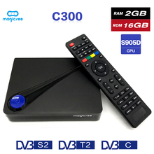Magicsee C300 Amlogic S905D Quad core 2GB 16GB tvbox DVB T2 DVB S2 Cable Set Top