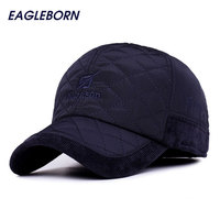 2016 Men Winter Baseball Caps Fashion Knitted Plaid Military Cap Outdoor Earflaps Adjustable Casquette