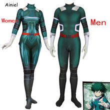 Anime My Hero Academia Cosplay Midoriya Izuko Deku Costumes Wig Men Women Zentai Bodysuit Suit Halloween Costumes for Kids Adult