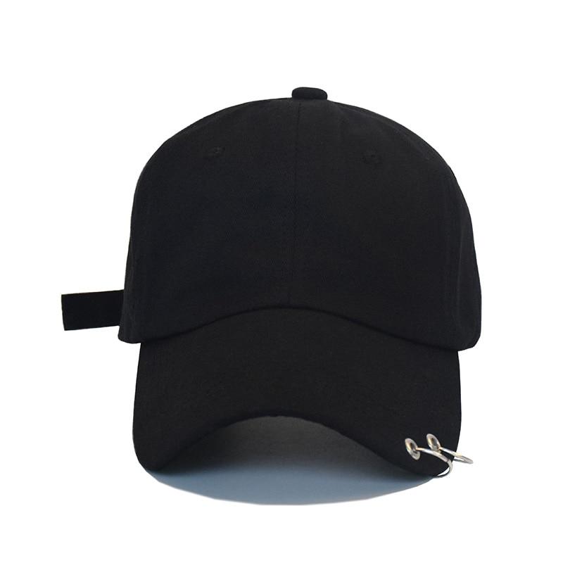 Hot selling 2017 New BTS JIMIN Fashion K POP Iron Ring Hats Adjustable Baseball Cap 100% Handmade Ring bts v fashion k pop punk iron hole hats adjustable baseball cap