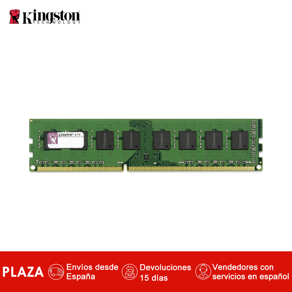 Kingston Technology KVR13N9S8H/4 RAM 4 GB 1333 MHz DDR3 non-ecc CL9 DIMM 240 broches, Module mémoire 1.5 V