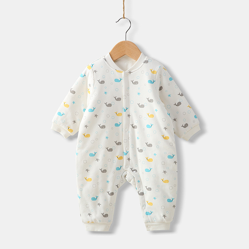 2018 Newborn Baby Cotton Rompers Boys Girls One-piece Clothes Long Sleeved Infant Toddler Winter Jumpsuit Nursling Undershirt baby rompers boys girl set long sleeve one piece jumpsuit newborn winter cotton bow tie boys girls jumpsuit for infant clothes