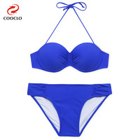 Hot Fashion Plain Sexy Bikini Women Swimwear Bandeau Top Beachwear Multi Color