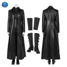 ManLuYunXiao Vampire Warrior Selene Cosplay Underworld: Next Generat Moive New Arrival Black Womens Jumpsuit Costume