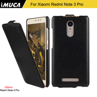IMUCA Original Phone Cases Leather Flip Cover For Xiaomi Redmi Note 3 Pro High Quality Fashion