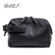 BAQI Brand Men Handbags Wallets Clutch Genuine Leather Soft Sheepskin 2018 Fashion Casual Bag Designer Ipad Phone