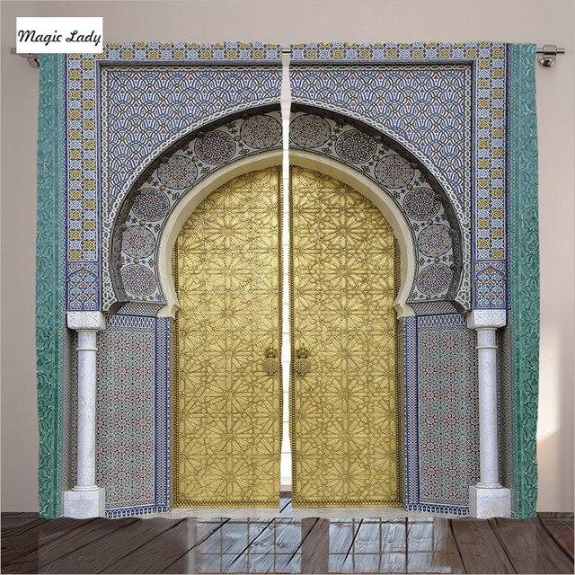 Dekorative Türvorhänge Wohnkultur Marokkanischen Antique Gold ...
