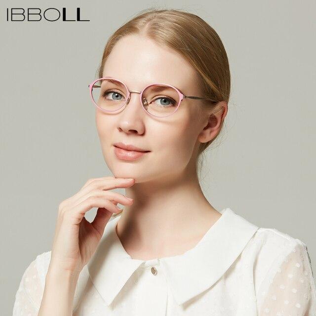 ibboll Fashion Optical Glasses Frames Women Vintage Metal Eyeglasses ...