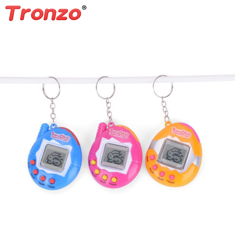 1Pcs Tamagochi Egg Shape Virtual Cyber Digital Pets Electronic Digital E-pet Retro Funny Toy Handheld Game Pet Machine Toy