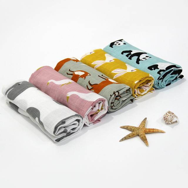 Cartoon Bamboo Fiber Baby Towels Set