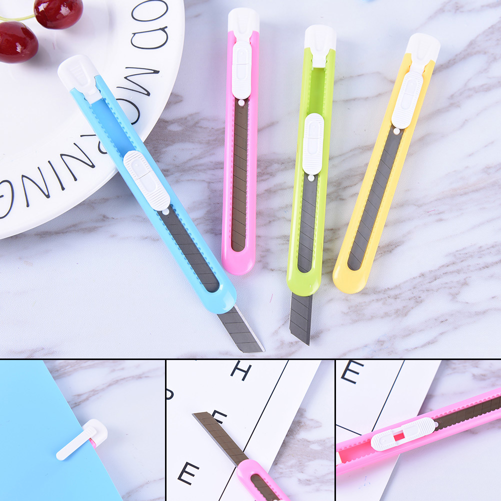 Cutting Supplies Safty Blade 1pcs Colorful Mini Plastic Durable Letter Opener Knife Paper Mail Envelop Cutter Office Equipment Supplies New Varieties Are Introduced One After Another Letter Opener