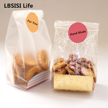 LBSISI 10Sets Christmas Gift Bag Cookie Candy Bags Plastic Bag Lollypop Bread Packing Party Wedding Decoration Chocolate Box(China)