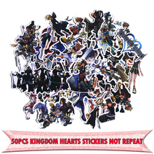 50pcs Kingdom hearts Toy funny for DIY scrapbooking album car Luggage Laptop Motorcycle notebook decal Waterproof Sticker E0033 50pcs naruto hokage ninjia funny kids diy scrapbooking album luggage laptop motorcycle notebook decal waterproof stickers e0067